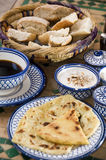 Moroccan breakfast at riad in essaouira morocco Royalty Free Stock Images