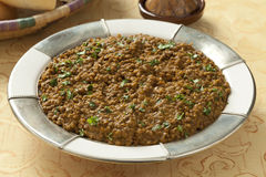 Moroccan brown lentils dish Stock Photos