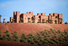 Moroccan buildings. Outside marrakech in morocco Royalty Free Stock Images