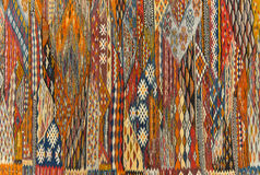 Moroccan carpet background pattern Royalty Free Stock Photo