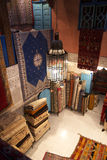 Moroccan carpet shop Royalty Free Stock Photos