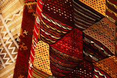 Moroccan Carpets in a street shop Stock Photo