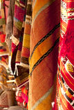 Moroccan Carpets in a street shop souk colorful Royalty Free Stock Image