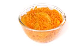 Moroccan carrot salad with orange Stock Photo