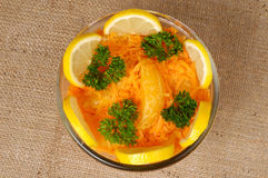 Moroccan carrot salad with orange Royalty Free Stock Image