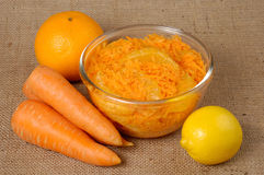 Moroccan Carrot Salad With Orange Royalty Free Stock Images
