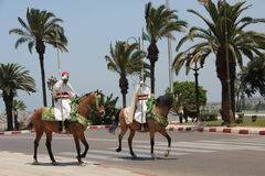 Moroccan cavalry guards Royalty Free Stock Images