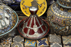 MOROCCAN CERAMIC TAJINE Royalty Free Stock Images