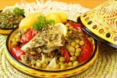 Moroccan chermoula fish tajine Stock Image