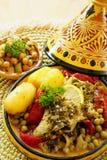 Moroccan chermoula fish tajine Stock Photos