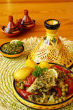Moroccan chermoula fish tajine Royalty Free Stock Images