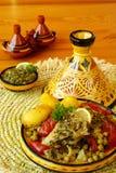 Moroccan chermoula fish tajine Royalty Free Stock Images