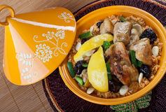 Moroccan chicken. With lemon confit Stock Photography