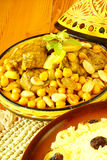 Moroccan chicken with chickpeas and lemons Royalty Free Stock Photography