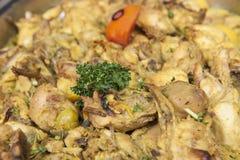 Moroccan chicken at an oriental restaurant buffet Stock Photo
