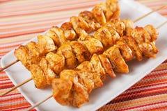 Moroccan chicken skewer Stock Image