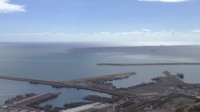 Moroccan city Agadir harbour view stock video