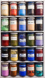 Moroccan color powder Royalty Free Stock Images