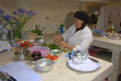 Moroccan cooking Stock Images