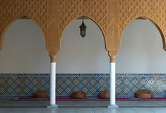 Moroccan courtyard. Moroccan courtyard in traditional Arabic style Stock Images