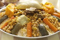 Moroccan couscous dish Royalty Free Stock Images