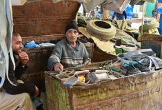 Moroccan craftsman at work Royalty Free Stock Image