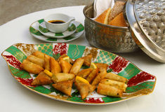 Moroccan cuisine. Selection of starters. Stock Photography