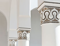 Moroccan decorated columns Royalty Free Stock Photo