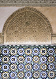 Moroccan decoration. Different layers moroccan decoration in Marrakesh Medrassa koranic school, Morocco Stock Photography