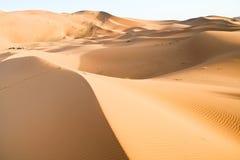 Moroccan desert dune background. Desert landscape in the region of  Sahara, Morocco Royalty Free Stock Photo