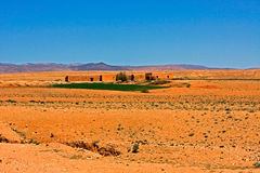 Moroccan desert landscape Royalty Free Stock Photo