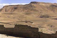 Moroccan desert and mountain Royalty Free Stock Photos