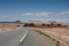 Moroccan desert road Stock Photography