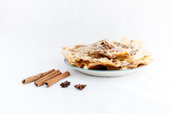 Moroccan dessert isolated on white background Royalty Free Stock Photo
