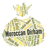 Moroccan Dirham Shows Foreign Exchange And Dirhams Stock Photography