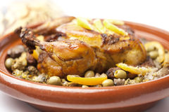 Moroccan dish with chicken and lemon Stock Images