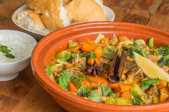 Moroccan dish with lamb and vegetables Royalty Free Stock Image