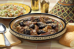 Moroccan dish with meat and plums Royalty Free Stock Photo