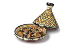 Moroccan dish with meat and plums Stock Images