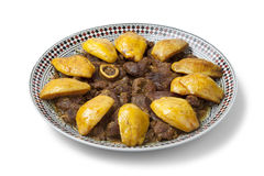Moroccan dish with meat and Safarjal Stock Photography
