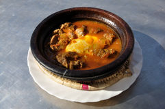 Moroccan Dish - Tajine Royalty Free Stock Images