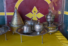 Moroccan dishware Stock Image