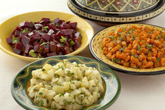 Moroccan diversity of salads Royalty Free Stock Images