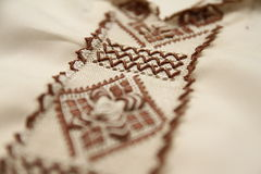 Moroccan Djellaba embroidery details Royalty Free Stock Photo