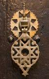 Moroccan door knocker. An old door knocker photographed in Morocco Royalty Free Stock Photo