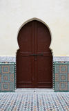 Moroccan doorway. Bordered by stucco & tilework Stock Image