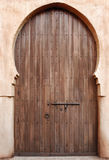 Moroccan dor. Large, Moroccan, byzantine style wooden door stock photo