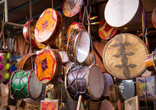Moroccan drums souvenirs Royalty Free Stock Photography