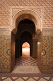 Moroccan entrance. Tiles and colours royalty free stock image