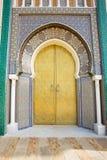 Moroccan entrance. Door way, entry, exit, pattern Stock Photos